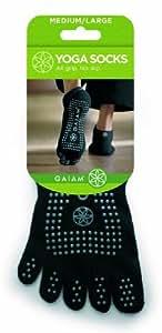 Gaiam S/M Grey Dots Yoga Socks Small/Medium / Bas De Yoga Petit/Moyen