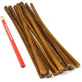 ValueBull All Natural 12 Inch Regular/Thin Bully Sticks for Dogs, 10 Count