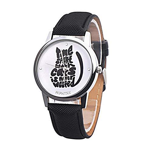 Reloj Fantasía Mujer diseño de Gato, Pulsera sintética Negro.: Amazon.es: Relojes