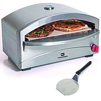 Horno individual para pizza, a gas, barbacoa, cocinado sobre piedra refractaria, 4