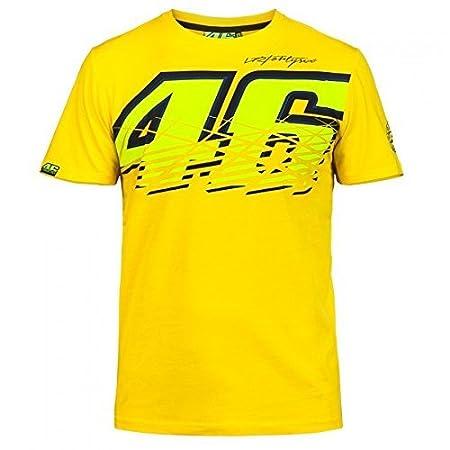 SANDO Herren T-Shirt VR46/Valentino Gelb Large