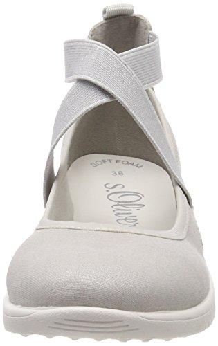 S Gris Femme grey 24619 oliver Cheville Bride Sandales 6Bwar6Y7q