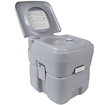 HPD 5 Gallon 20L Portable Toilet Flush Travel Camping Outdoor Indoor Potty Commode