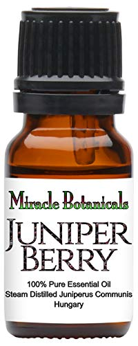 Miracle Botanicals Hungarian Wildcrafted Juniper Berry Essential Oil - 100% Pure Juniperus Communis - 10ml and 30ml Sizes - Superior Strength 10ml