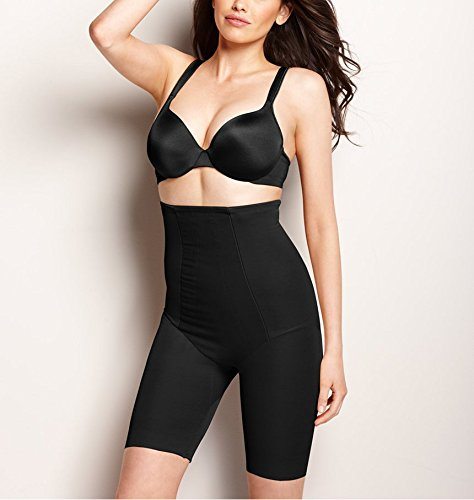 Miraclesuit Shapewear Women's Extra Firm Shape with an Edge Hi-Waist Long Leg Black Body Shaper 3XL