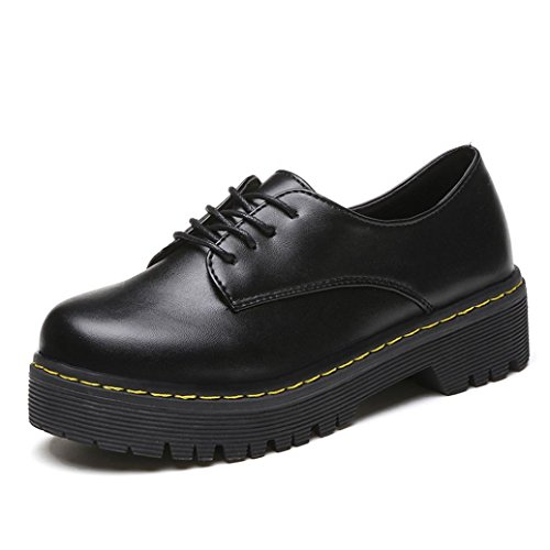 Zapatos interiores, Amlaiworld Vintage Martin Botas Negro