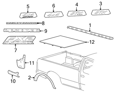 Ford 5L3Z-84291A41-AAA - MOULDING (Ford Rail Bed Cap)