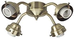 Craftmade 4 Light Universal Fitter, Antique Brass