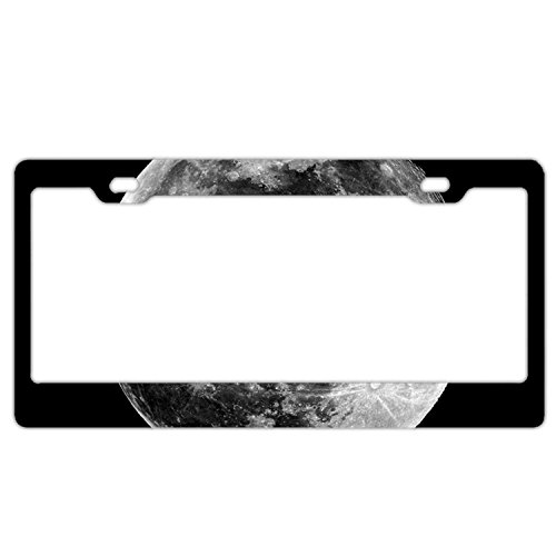 (YEX Abstract Huge Moon License Plate Frame Car Tag Frame Auto License Plate Holder 12