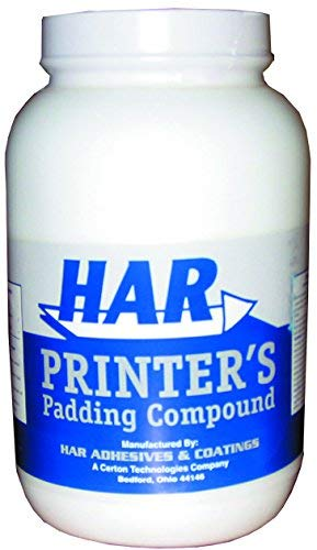 HAR Padding Compound White For Making Note Pads - Quart