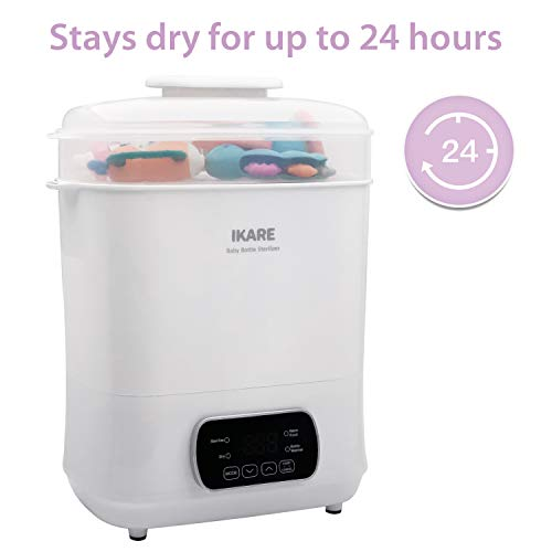 41uMXyEJemL - IKARE 5-in-1 Electric Steam Steri-lizer And Dryer For Baby Bottles, Pacifiers, Cups, Toys