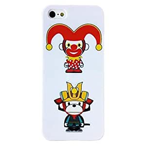 GOG- Ugly Monkey Pattern TPU Soft Case for iPhone 4/4S , Multicolor