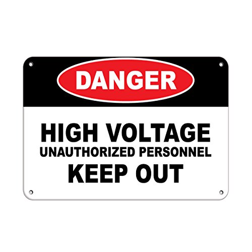 Danger High Voltage Unauthorized Personnel Keep Out Style