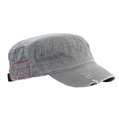 Castro BDU Low Profile Short Bill Military Cadet Cap Grey OSFM (Castro Hat Low Profile)