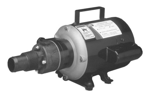 Jabsco 18690-0000 Marine Run Dry Heavy Duty Macerator Waste Pump (115-Volt, Marine Model), Black