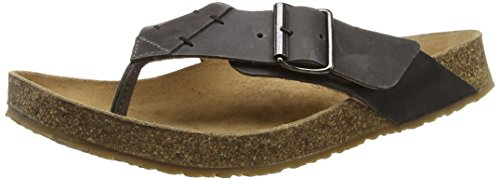HaflingerBio Rio - Sandalias de dedo Unisex adulto Negro - Schwarz (Graphit 705)