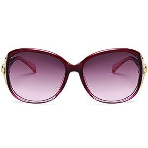 Hukai New Fashion Fox's head Sunglasses Large Frame sunglasses Goggles Outdoor Glasses (D)