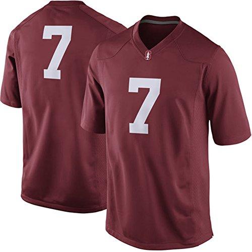 NCAA Mens Cardinal Stanford Cardinal #7 Game College Football Jersey (Stanford Cardinal College Basketball)