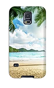 Slim Fit Tpu Protector Shock Absorbent Bumper Seascape Case For Galaxy S5
