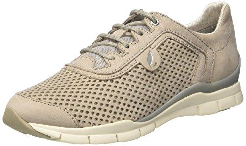 Geox Women's D Sukie Fashion Sneaker, Light Grey, 41 EU/10.5 M US