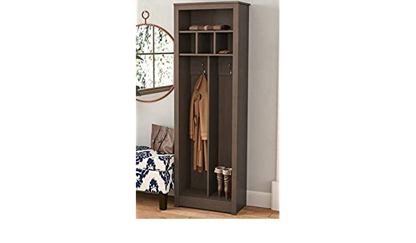 Amazon.com: Hall Trees with Bench and Coat Racks - Espresso Wood with Upper Shelf Three Cubbies - Organizing Your Space with Sophistication: Home & Kitchen