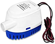 xiaxuanke Boat Bilge Water Pump, 12v 1100GPH Automatic Submersible Marine Bilge Auto Yacht with Float Switch f