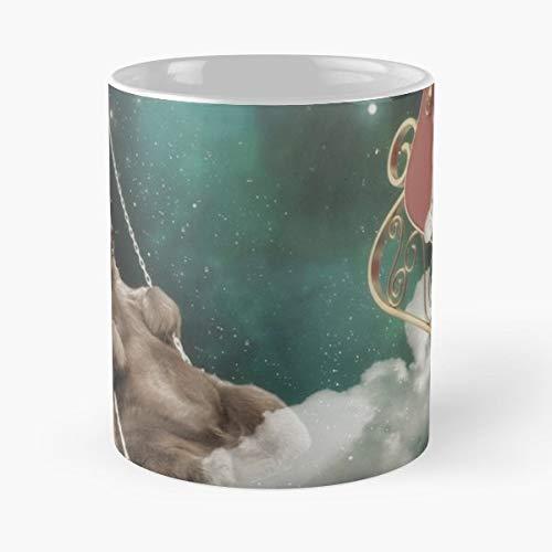 (Santa Christmas Stocking Sleigh - Best Gift Ceramic Coffee Mugs)