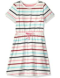 Girls' Short-Sleeve Elastic Waist T-Shirt Dress