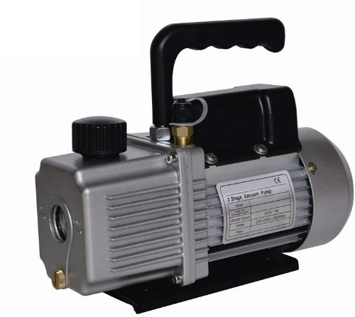 Vacuum Pump Air Conditioner Refrigeration 6.0 CFM 2 Stage 1/2 HP HVAC/R Service 110v ()