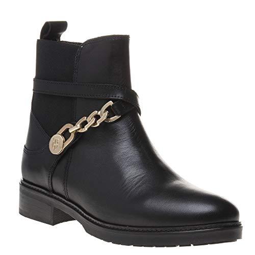 Boots Hilfiger Chain Noir Tommy Femme wt6BqnRf