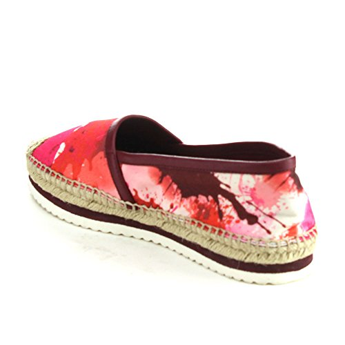 C LABEL ATAMI-1 Womens Comfort Slip On Espadrille Flat Shoes,RED,8