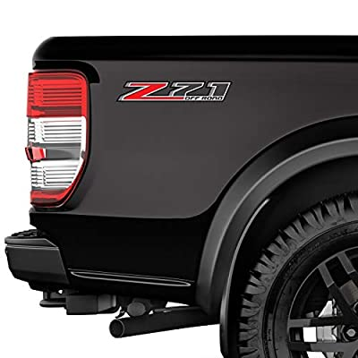 TiresFX Chevy Silverado Z71 Offroad Truck Stickers Decals - 2014-2020 Bedside (Set of 2): Clothing
