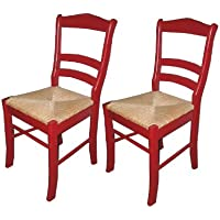 Target Marketing Systems TMS Paloma Chair, Red, Set of 2