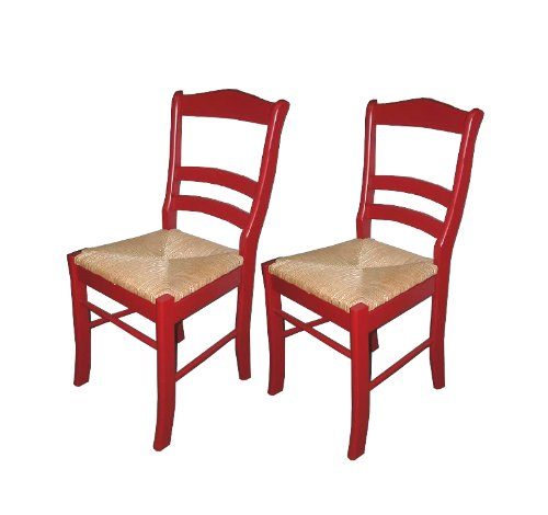 Amazon.com   Target Marketing Systems TMS Paloma Chair, Red, Set Of 2    Chairs