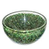 Crocon Green Aventurine Orgone Gemstone Bowl Tray Dish Devotional Focus Spiritual Chakra Cleansing Metaphysica Devotional Focus Spiritual Chakra Cleansing Metaphysical Size 3-3.5 inch