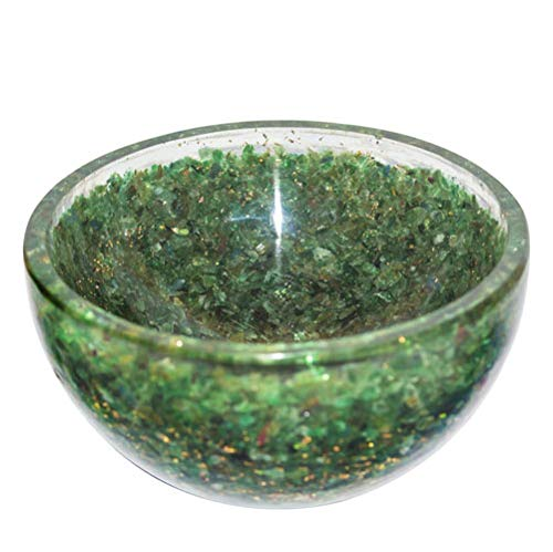 Crocon Green Aventurine Orgone Gemstone Bowl Tray Dish Devotional Focus Spiritual Chakra Cleansing Metaphysica Devotional Focus Spiritual Chakra Cleansing Metaphysical Size 3-3.5 inch by Crocon