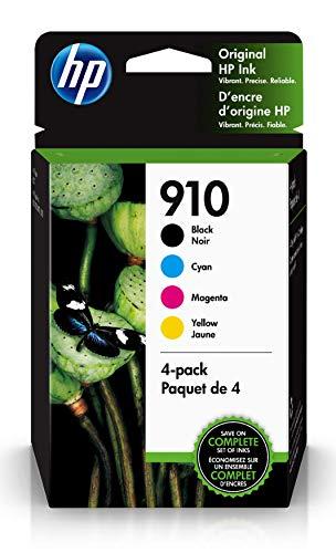 HP 910 | 4 cartuchos de tinta | Negro, cian, magenta, amarillo | 3YL61AN, 3YL58AN, 3YL59AN, 3YL60AN