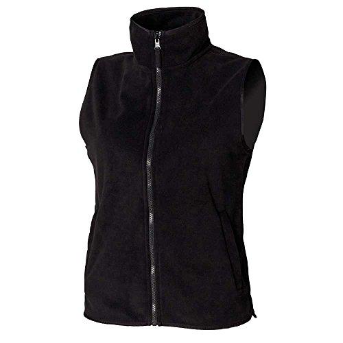 Henbury Jackets Micro Sleeveless Full Black Fleece Zip Womens TywqF7TO