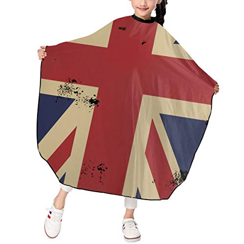 - Teens Hair Catcher Cape Snap Closure And Comfortable Elasticity Neck Hair Stick Resistant And Easy Care Polyester Professional For Home And Barber Shop Wash Hair Vertical Flag Of The United Kingdom