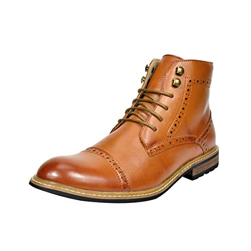 Bruno Marc Men's Dress Ankle Motorcycle Boots