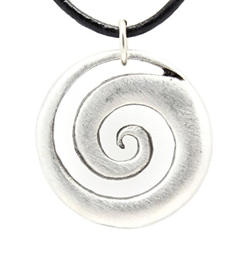 Pewter Tranquility Pendant Leather Necklace product image