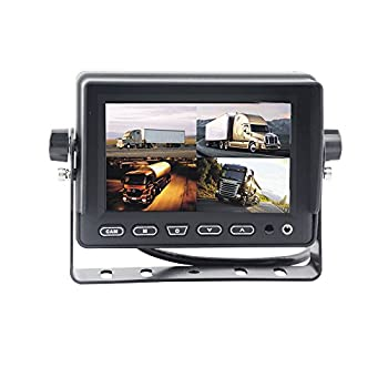 Image of Car Video BOYO VTM5000Q4-5' TFT-LCD Backup Camera Monitor with 4-Channel Split-Screen