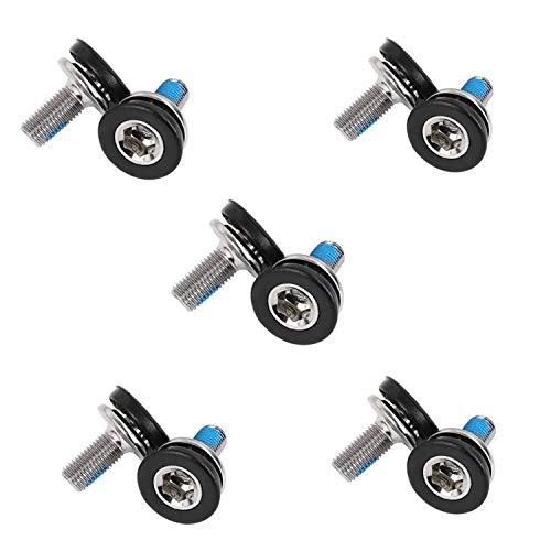 Bottom Bracket Axle Bolt - YouU 10 Pcs 8mm Hex Crank Arm Fixing Bolts Bicycle Crank Screws for Square Hole Crankset Bottom Bracket