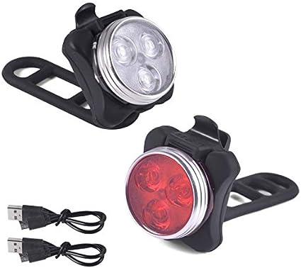 Viccioo Luces Bicicleta Recargable LED,Juego de Luces LED para ...