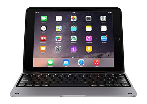 Incipio ClamCase Pro for iPad Air 2, ClamCase Pro Bluetooth Keyboard Case [100 Hour Playtime] for iPad Air 2 - Smoke/Aluminum