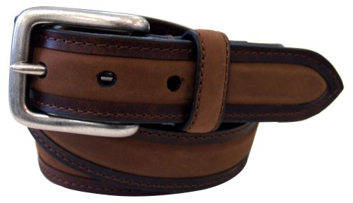 Columbia Mens 1 1/4 in. Oil Tan Belt With Nubuck Padded (Columbia Brown Belt)