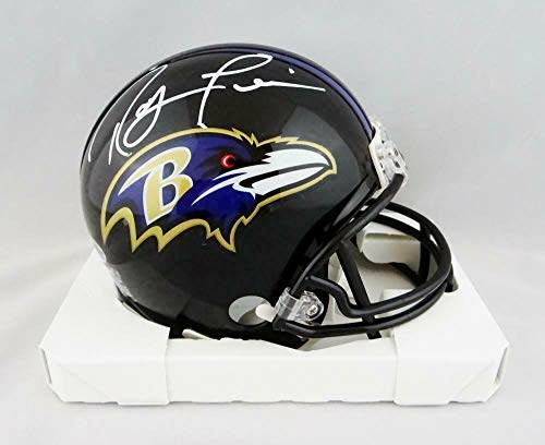 (Ray Lewis Signed Mini Helmet - Beckett W Auth *White Full Name - Beckett Authentication - Autographed NFL Mini Helmets)