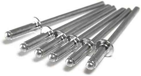1//8 x 1//2 Grip Aluminum Pop Rivets 1//8#4 Blind Rivets 4-8 0.376-0.500 QTY 1000
