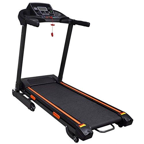 Elektrisch Laufband Fitnessgerät Heimtrainer mit Smartphone App Steuerung,Klappbare Lauffläche,Tablet-Halterung, Transportrollen,12 Programm LCD Anzeige 1.5 HP