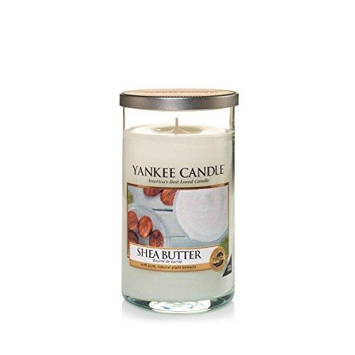 Yankee Candles Medium Pillar Candle - Shea Butter (Pack of 6) - ヤンキーキャンドルメディアピラーキャンドル - シアバター (x6) [並行輸入品] B01N2JNKBR